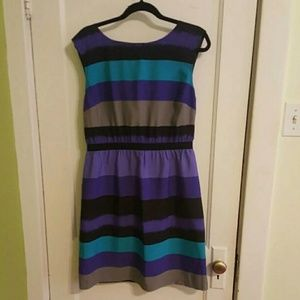 Ann Taylor LOFT Striped Dress, Medium